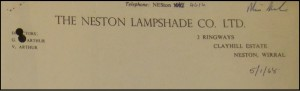 So who still has a lamp-shade made in Neston?