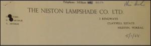 So who still has a lamp-shade made in Neston?