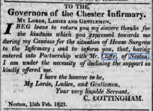 Chester Courant 18th February 1823