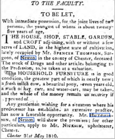 Chester Courant, 5th June 1810
