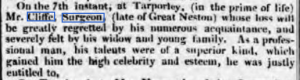 Obituary. Chester Courant, 18th May 1824