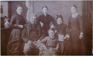 Henry and Sarah Houldin with daughters Ellen, Sara Ann, Louisa and Mary.