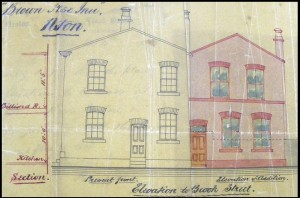Plan for the rear section, 1860s (Cheshire Archives and Local Studies)