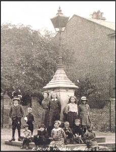 The fountain in WW1.