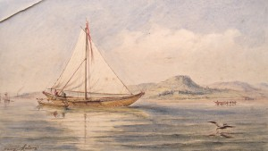 Water colour by Henry Melling, a keen local yachtsman.