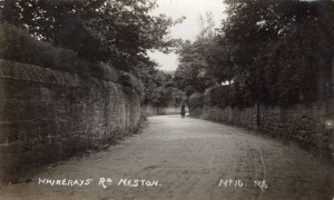 Whinerary's Road, now Buggens Lane. Sometimes shown as Prospect Road on early O. S. maps.