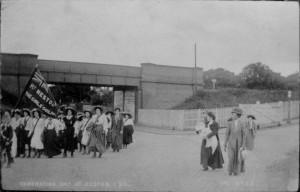 1911. Coronation Day. 22nd June. Parkgate. 1st Neston Girls Guildery from the Presbyterian Church (URC).