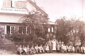 Neston's Red Cross Hospital opened in the Institute in 1916.