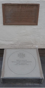 The Congreve memorial stone below the Gladstone plaque.