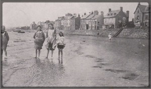 Parkgate Shore, children paddling, circa 1915.