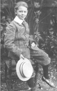 Billy Congreve, aged about seven, possibly at Burton Hall