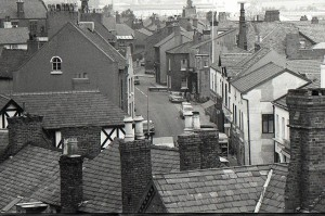 High Street. Looking from Neston Cross towards Raby Road.