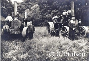Robert Bridson, on right of picture in front of one of the traction engines.
